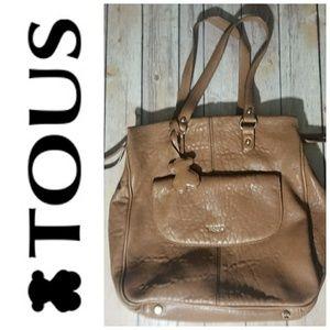 TOUS tan leather bag
